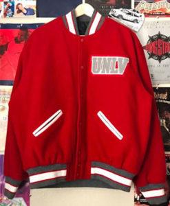 Men's Varsity UNLV Red Bomber Jacket