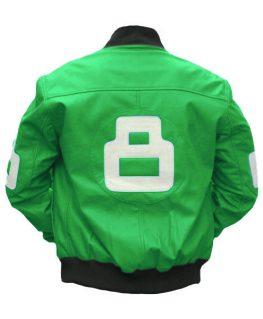 8 Ball Green Bomber Jacket