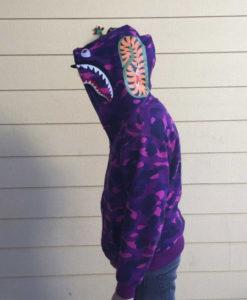Purple Camo Bape Hoodie