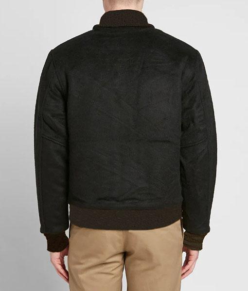 Black Billionaire Boys Club Astro Patch Varsity Jacket
