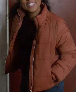 Chicago Fire S09 Gianna Mackey Puffer Jacket