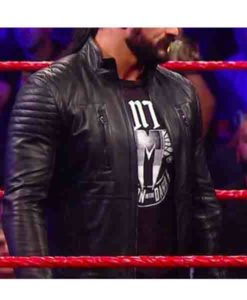 Drew McIntyre Black Leather Jacket