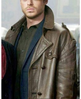 Eternals Ikaris Brown Leather Car Coat