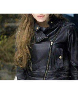 Eternals Thena Leather Jacket