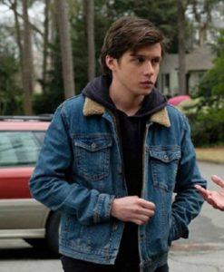 Love, Victor Simon Spier Blue Denim Jacket