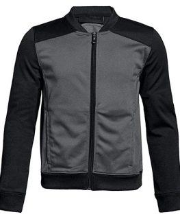 Mens Black Bomber Style Track Jacket