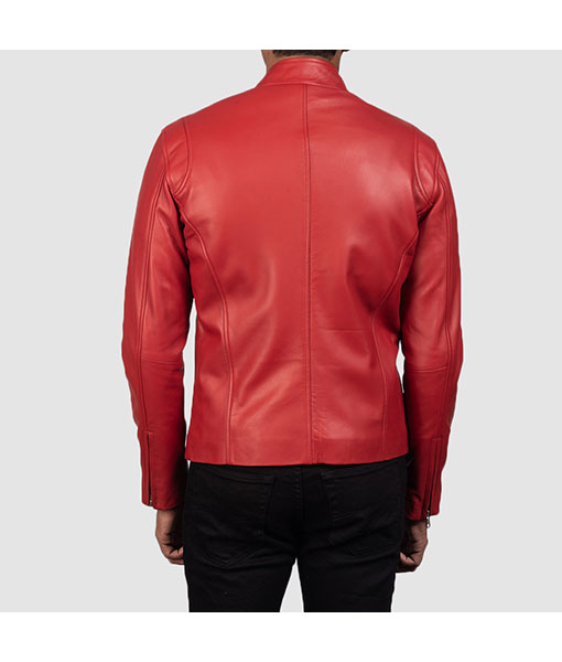 Men's Red Leather Jacket