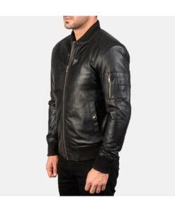 Nathan Mat Black Bomber Jacket