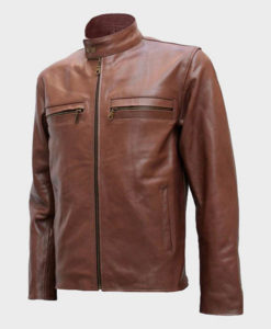 Mens Style Brown Leather Jacket