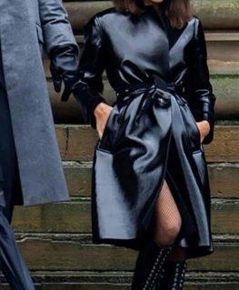 The Batman 2022 Selina Kyle Leather Coat