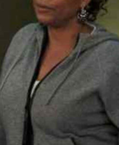 The Equalizer Queen Latifah Grey Hooded Jacket