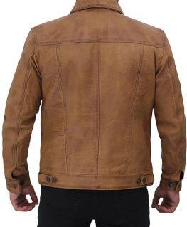 William Tan Trucker Leather Jacket