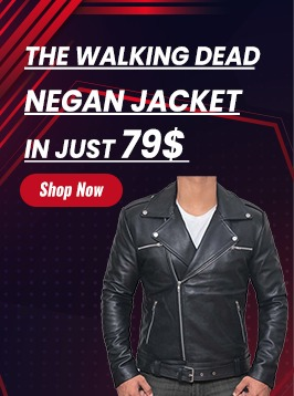 negan black leather jacket