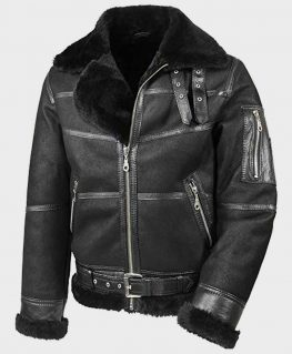 Aviator Mens B16 Shearling Jacket