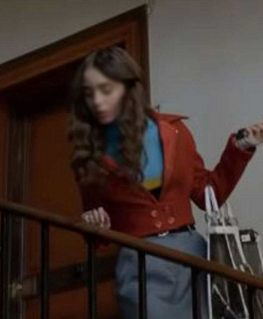 Emily In Paris Lily Collins Brown Jacket