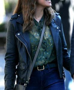 False Positive Ilana Glazer Black Leather Jacket
