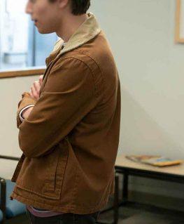 Felix Weston Love, Victor Season 2 Brown Jacket