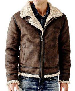 Men's B3 Brown Suede Leather Jacket