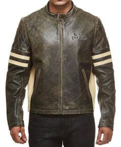 Men's Royal Enfield Cafe Racer Leather Jacket