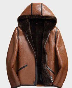 Mens Shearling Brown Sheepskin Leather Jacket