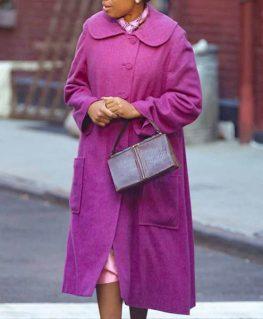 Respect 2021 Aretha Franklin Purple Coat