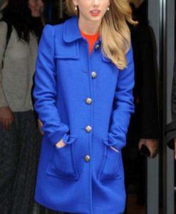 Taylor Swift Blue Wool Coat