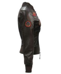 Top Gun Womens Vegan Leather Jacket