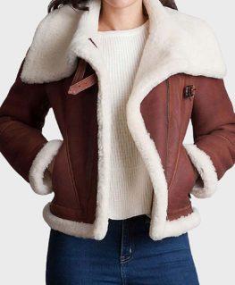Womens Brown Sheepskin Shearling Jacket