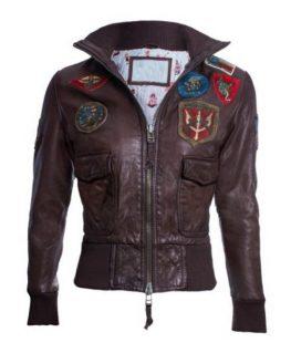 Women's Top Gun Leather Jacket