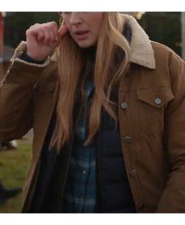 Virgin River S03 Melinda Monroe Brown Cotton Jacket