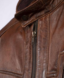 Men's Classic Leather Racer Jacket
