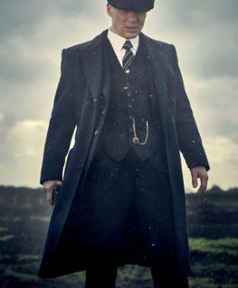 Peaky Blinders Thomas Shelby Pinstripe Three Piece Suit