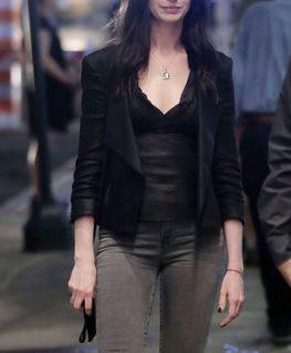 WeCrashed Rebekah Neumann Leather Blazer
