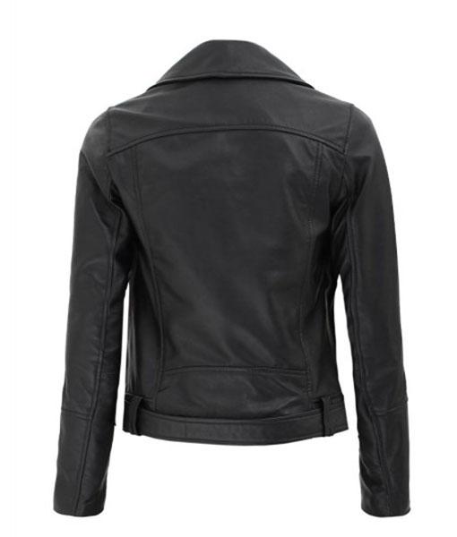 Women's Asymmetrical Motorcycle Leather Jacket