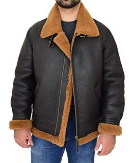 Men's B3 Shearling Bomber Jacket With Hoodie