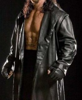 The Undertaker Long Leather Coat