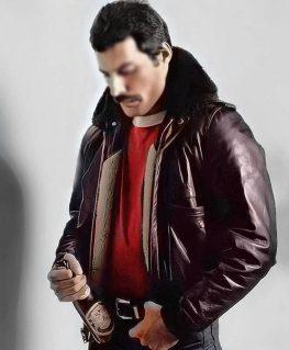 Freddie Mercury Bomber Leather Jacket