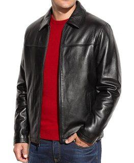 Men's Simple Leather Jacket