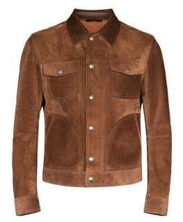 Mens Suede Brown Leather Jacket