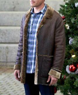Nostalgic Christmas Keith McClain Shearling Jacket