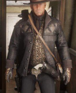 Red Dead Redemption 2 Black Gunslinger Hunting Jacket