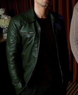 Sebastian Stan Green Jacket